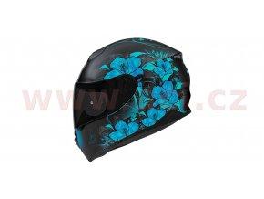 přilba N301 SYMPHONY, NOX, dámská (černá matná/světle modrá)