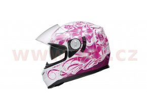 přilba N915 LADYBUG, NOX, dámská (bílá/růžová)