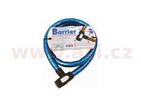 zámek na motocykl Barrier, OXFORD - Anglie (modrý, vyztužený, délka 1,5m)