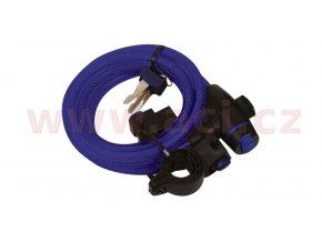 zámek na motocykl Cable Lock, OXFORD - Anglie (modrý, délka 1,8m)