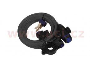 zámek na motocykl Cable Lock, OXFORD - Anglie (kouřový, délka 1,8m)