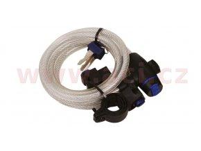 zámek na motocykl Cable Lock, OXFORD - Anglie (čirý, délka 1,8m)