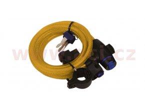 zámek na motocykl Cable Lock, OXFORD - Anglie (zlatý, délka 1,8m)