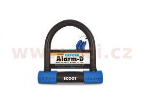 zámek U profil Alarm-D Scoot, OXFORD - Anglie (integrovaný alarm, průměr čepu 16mm)