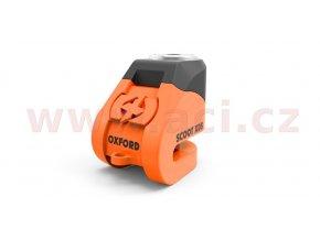 zámek kotoučové brzdy Scoot XD5, OXFORD - Anglie (oranžový/černý, průměr čepu 6mm)