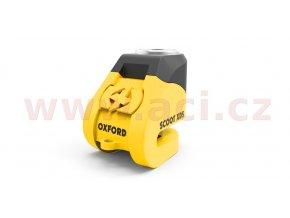 zámek kotoučové brzdy Scoot XD5, OXFORD - Anglie (žlutý/černý, průměr čepu 6mm)