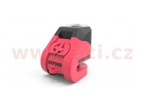 zámek kotoučové brzdy Scoot XD5, OXFORD - Anglie (růžový/černý, průměr čepu 6mm)