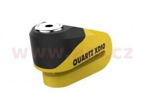 zámek kotoučové brzdy Quartz XD10, OXFORD - Anglie (žlutý/černý, průměr čepu 10mm)