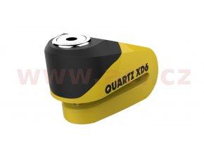 zámek kotoučové brzdy Quartz XD6, OXFORD - Anglie (černý/žlutý, průměr čepu 6mm)