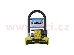 zámek U profil Shackle 14, OXFORD - Anglie (žlutý/černý, 260x170mm, průměr čepu 14mm)
