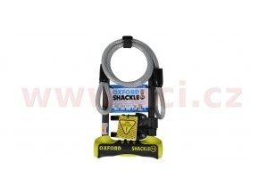 zámek U profil Shackle 14 DUO, OXFORD - Anglie (žlutý/černý, 320x177mm, průměr čepu 14mm)