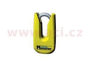 zámek kotoučové brzdy Monster, OXFORD - Anglie (průměr čepu 11mm, žlutý)
