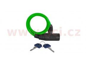zámek na motocykl Bumper Cable Lock, OXFORD - Anglie (zelený, délka 0,6m)