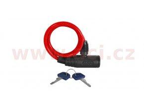 zámek na motocykl Bumper Cable Lock, OXFORD - Anglie (červený, délka 0,6m)