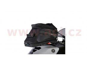 tankbag na motocykl Q20R Adventure QR, OXFORD - Anglie (černý, s rychloupínacím systémem na víčka nádrže, objem 20l)