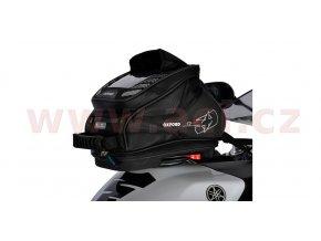 tankbag na motocykl Q4R QR, OXFORD - Anglie (černý, s rychloupínacím systémem na víčka nádrže, objem 4l)