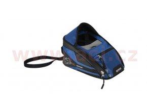 tankbag na motocykl M2R, OXFORD - Anglie (černý/modrý, s magnetickou základnou, objem 2l)