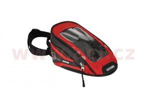 tankbag na motocykl M1R Micro, OXFORD - Anglie (černý/červený, objem 1l)