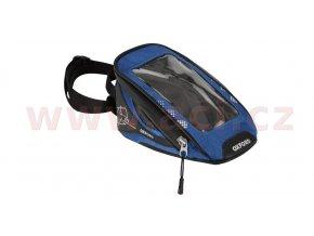 tankbag na motocykl M1R Micro, OXFORD - Anglie (černý/modrý, objem 1l)
