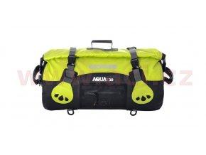 vodotěsný vak Aqua30 Roll Bag, OXFORD - Anglie (černý/fluo, objem 30l)