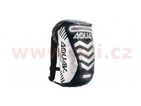 vodotěsný batoh Aqua V12 Extreme Visibility, OXFORD - Anglie (černá/reflexní prvky, objem 12l)