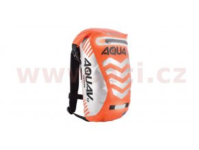 vodotěsný batoh Aqua V12 Extreme Visibility, OXFORD - Anglie (oranžová fluo/reflexní prvky, objem 12l)