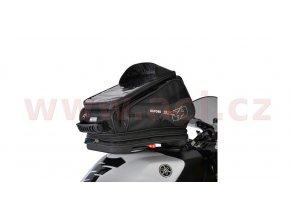 tankbag na motocykl Q30R QR, OXFORD - Anglie (černý, s rychloupínacím systémem na víčka nádrže, objem 30l)