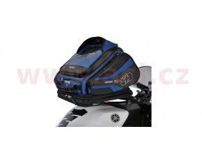 tankbag na motocykl Q30R QR, OXFORD - Anglie (černý/modrý, s rychloupínacím systémem na víčka nádrže, objem 30l)