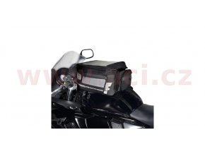 tankbag na motocykl F1 s popruhy, OXFORD - Anglie (černý, objem 18l)