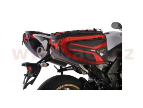 boční brašny na motocykl P50R, OXFORD - Anglie (černé/červené, objem 50l, pár)