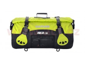 vodotěsný vak Aqua20 Roll Bag, OXFORD - Anglie (černý/fluo, objem 20l)