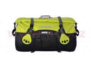 vodotěsný vak Aqua70 Roll Bag, OXFORD - Anglie (černý/fluo, objem 70l)