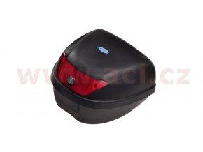 kufr Top Case plast, OXFORD - Anglie (černý nelakovaný, objem 24l)