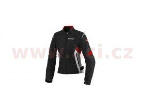 bunda FLASH TEX LADY, SPIDI - Itálie (černá/bílá/červená)