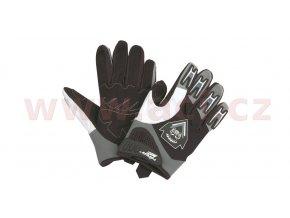 rukavice Cross, ROLEFF - Německo (černé/šedé)