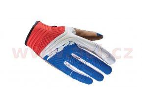rukavice MEGA-X, SPIDI - Itálie (bílé/modré/červené)