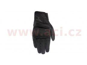 rukavice Warden, ALPINESTARS - Itálie (černé)