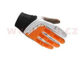 rukavice MEGA-X, SPIDI - Itálie (bílé/oranžové)