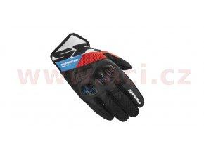 rukavice FLASH R EVO, SPIDI - Itálie (černé/bílé/modré/červené)