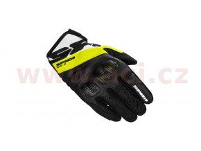 rukavice FLASH R EVO, SPIDI - Itálie (černé/bílé/žluté fluo)