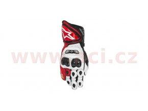 rukavice GP TECH, ALPINESTARS - Itálie (bílé/červené/černé)