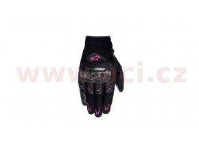 rukavice STELLA SMX-2 AC, ALPINESTARS - Itálie, dámské (černé/růžové)