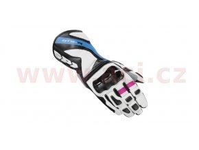 rukavice STS R LADY, SPIDI - Itálie, dámské (černé/bílé/modré/růžové)
