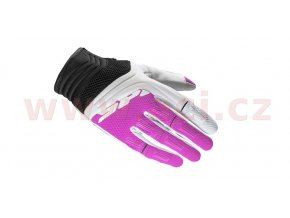 rukavice MEGA-X, SPIDI - Itálie, dámské (bílá/růžová)