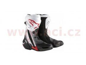 boty Supertech R, ALPINESTARS - Itálie (černé/bílé/červené)
