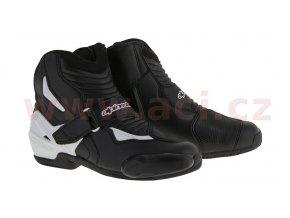 boty SMX-1 R, ALPINESTARS - Itálie (černé/bílé)