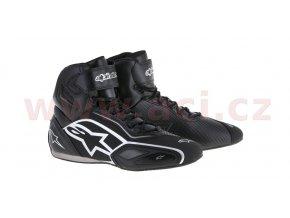 boty FASTER 2, ALPINESTARS - Itálie (černé/stříbrné)