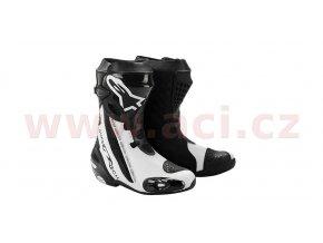 boty Supertech R, ALPINESTARS - Itálie (černé/bílé)