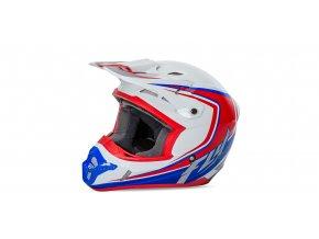 přilba Kinetic Fullspeed, FLY RACING - USA (bílá/červená/modrá)