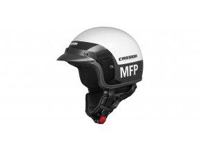 přilba Police MFP, CASSIDA - ČR (černá/bílá)